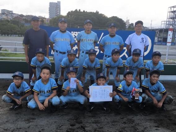 Bチーム、藤沢市学童野球新人大会で優勝!